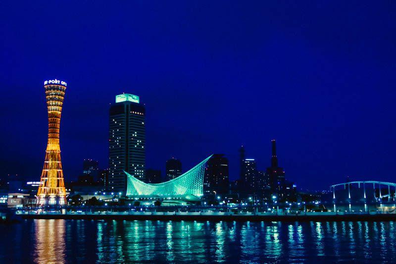 神戸の夜景といったらこれ!赤と白のコントラストにうっとり