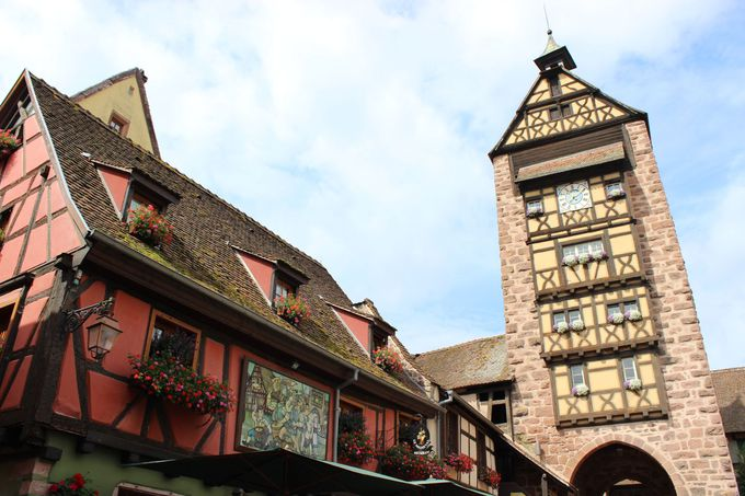 伝統のアルザス建築様式。