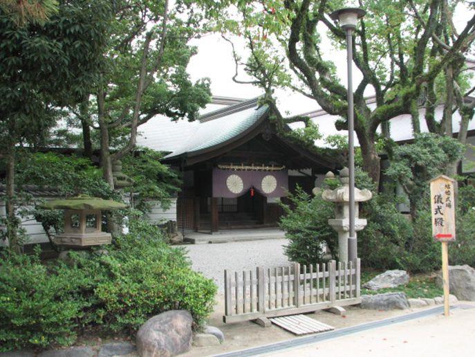 筥崎宮のパワースポットNo.1 天皇をお迎えするための「儀式殿」