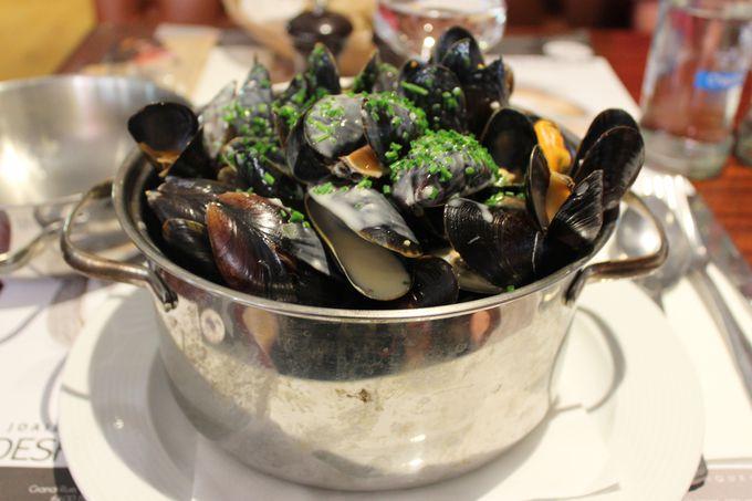 ベルギーで一番洗練されたムール貝料理。