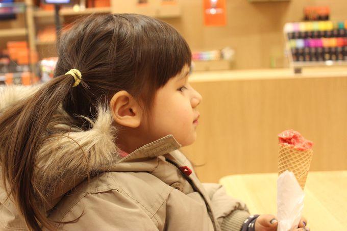 ガレーカフェなら、チョコもアイスもその場で味見できる!
