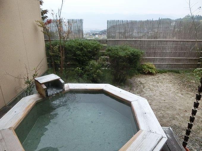客室から直接出ることができる露天風呂