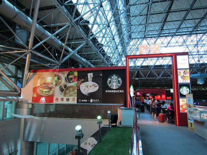 日本からの就航便が多いターミナル2はグルメスポットも充実!