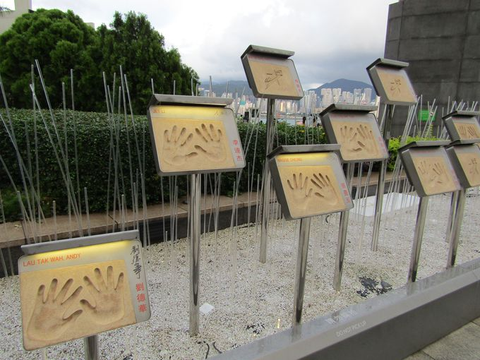 香港映画スターの手形が語る香港映画の栄華?
