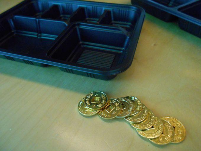 顧客満足センターでコインと弁当箱をゲット!