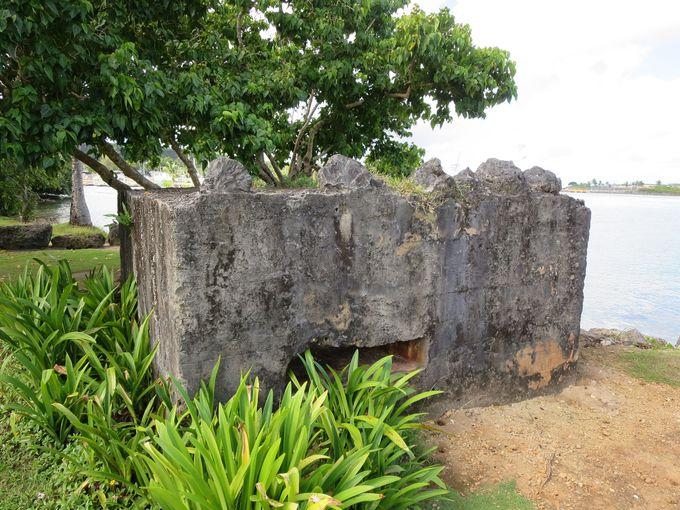 「大宮島」の旧日本軍トーチカ