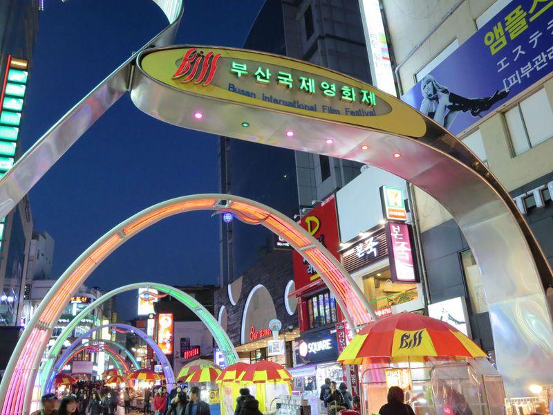 釜山国際映画祭は年に1回お祭り騒ぎ!BIFF広場は毎晩お祭り騒ぎ!
