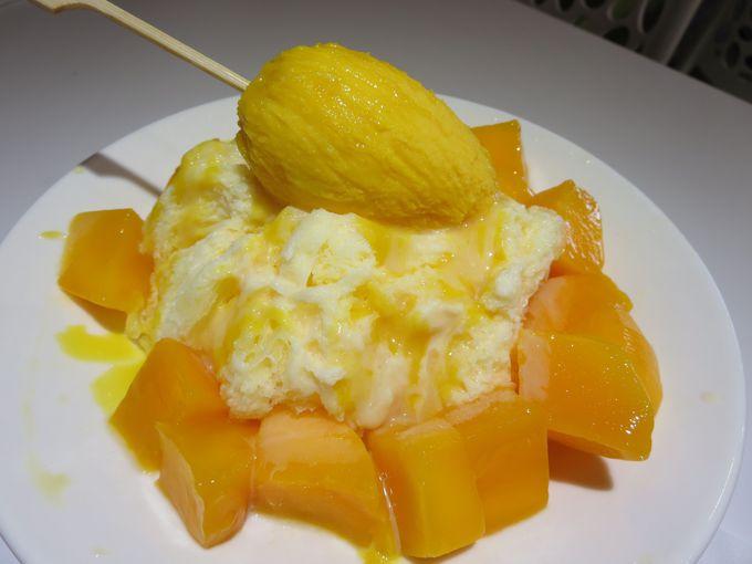 マンゴーの季節は土芒果を使ったかき氷から始まる!
