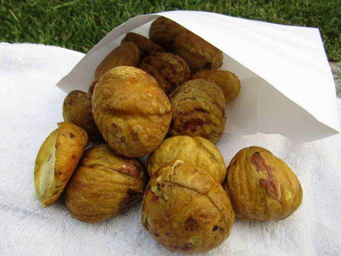正真正銘の焼き栗「クンバム」は自然の甘さがたっぷり!