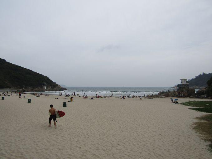 ゴールはビーチ、大浪湾(タイロンワン)