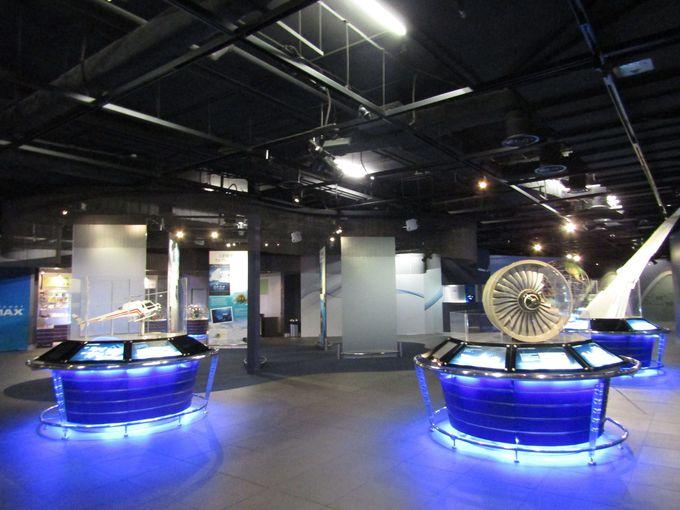 メインの展示スペース「エアスペース」はまるで宇宙空間