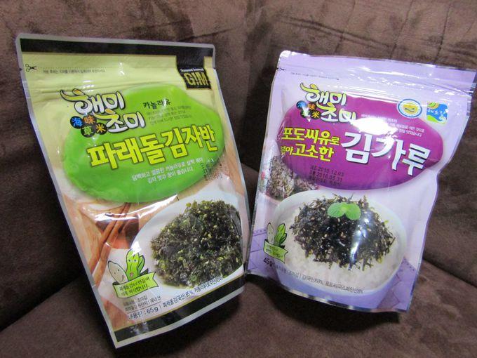 韓国海苔(岩ノリ)は味つき刻み海苔のほうが使える