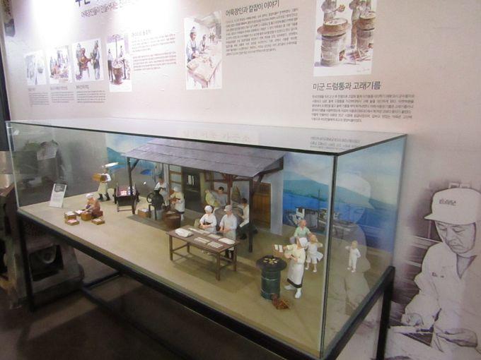 釜山名物のオムクを知りたければ2階の歴史館へ
