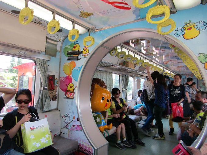 資材運搬列車から観光列車に変身!車内が楽しい集集線
