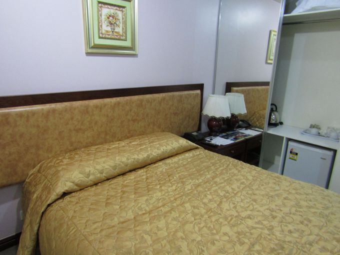 ロッジなので各部屋はシンプル!寝るだけなのでそれでよし!