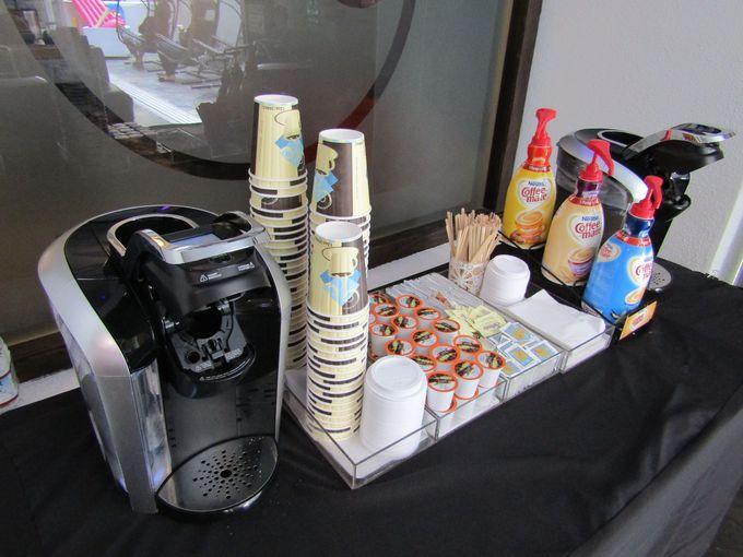 朝食ビュッフェはないけれど、フリーコーヒーがある!