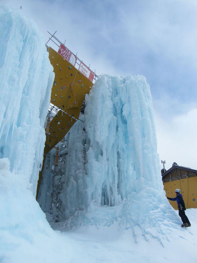 赤岳鉱泉ではアイスクライミングを体験してみよう!