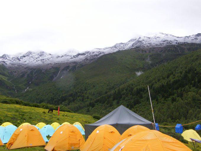 山々に囲まれたベースキャンプ(BC)へ