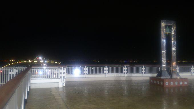 まさに海ほたる!?夜景を見よう