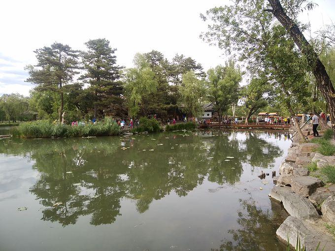 湖景区はのんびり過ごす場所