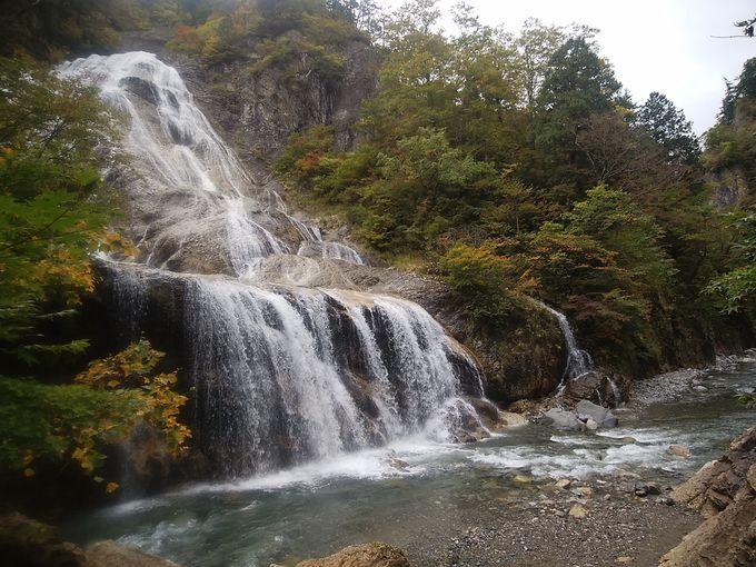 姥ヶ滝の後は噴泉塔も忘れずに