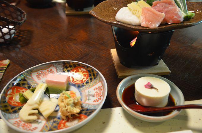 四季それぞれの吟味した素材を使った、へき亭ならではの料理