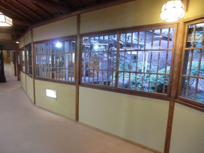 窓ガラスのゆらぎが楽しい「湯之島館」、変形窓ガラスをみつけられるか!?