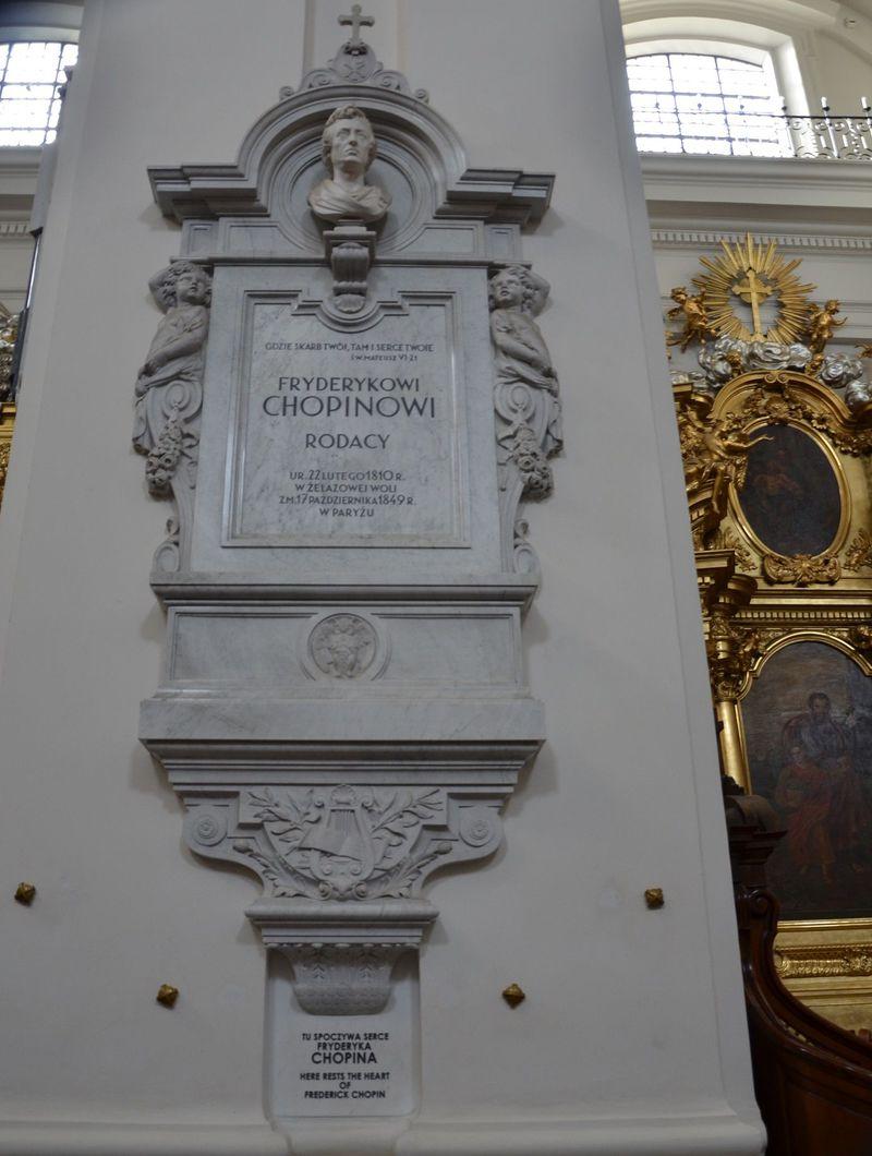 """柱の中に""""ショパンの心臓""""が!ワルシャワ「聖十字架教会」"""