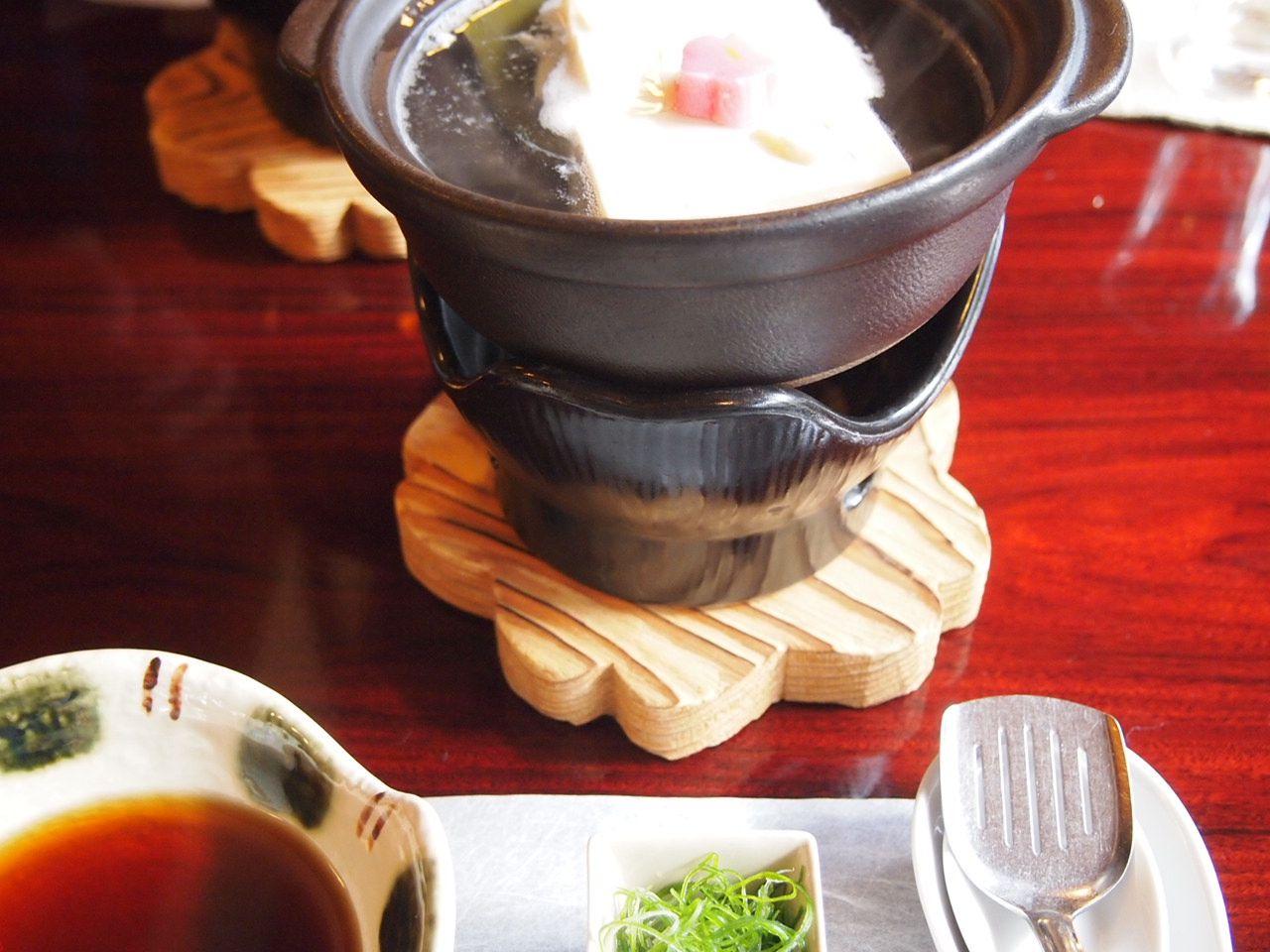 希望者には湯豆腐のお代りも!