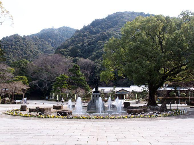 金華山麓の「岐阜公園」は、見所がいっぱい