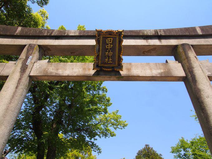 全国の「田中」さんの祖とも言われる、田中神社