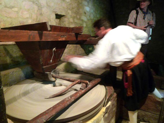 伝統的な製粉所の見学も