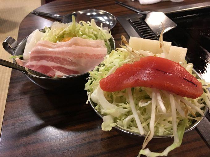 本格もんじゃと鉄板料理に食べ飲み放題!!