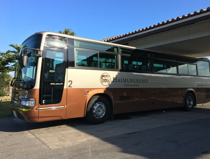 石垣島から30分!船着き場にはホテル専用バスがお出迎え