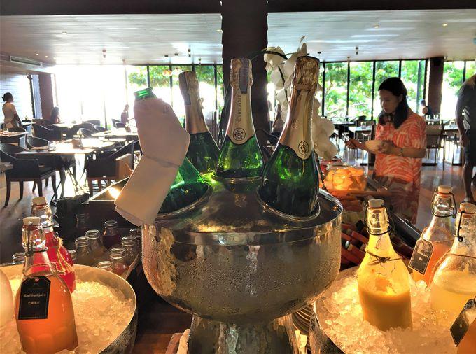 スパークリングワイン付が嬉しい!朝食ビュッフェ