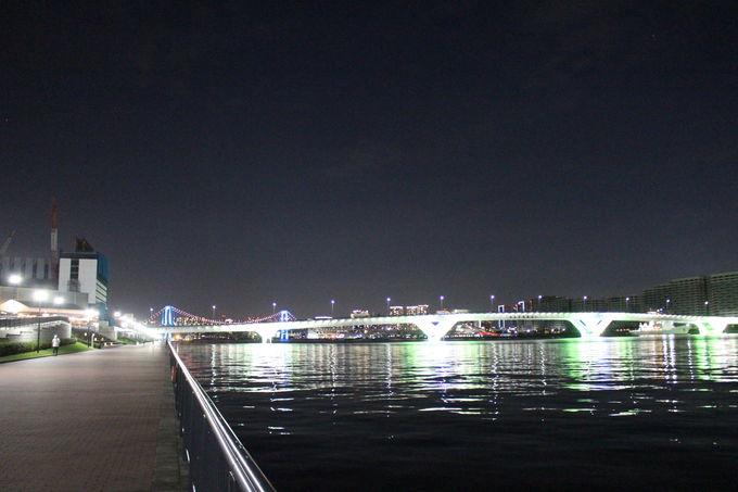 2020年8月からライトアップ開始!豊洲大橋