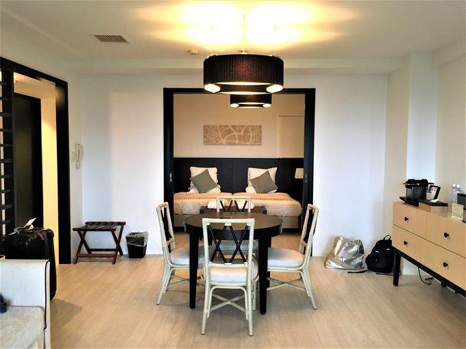 テラスにジャグジー付き!暮らすように滞在できる広い客室