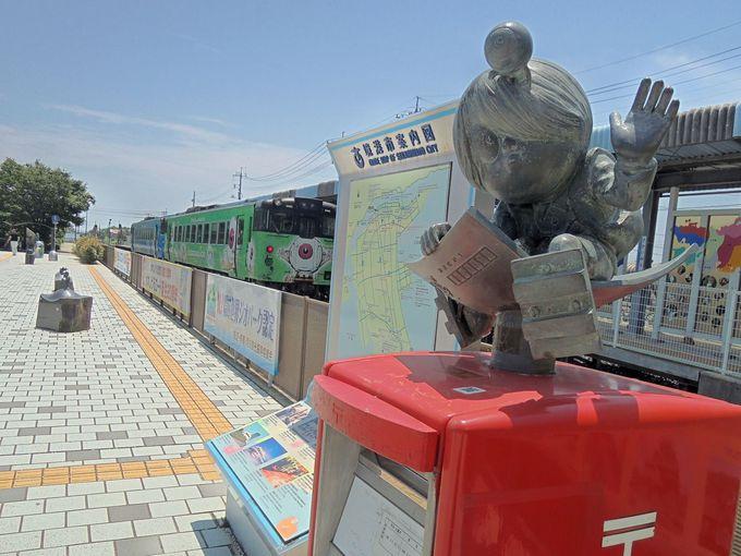 境港駅へのアクセスは鬼太郎列車で!!
