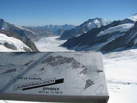 スイス・ユングフラウ鉄道で氷河の中へ!日本のポストをアルプスで発見!?
