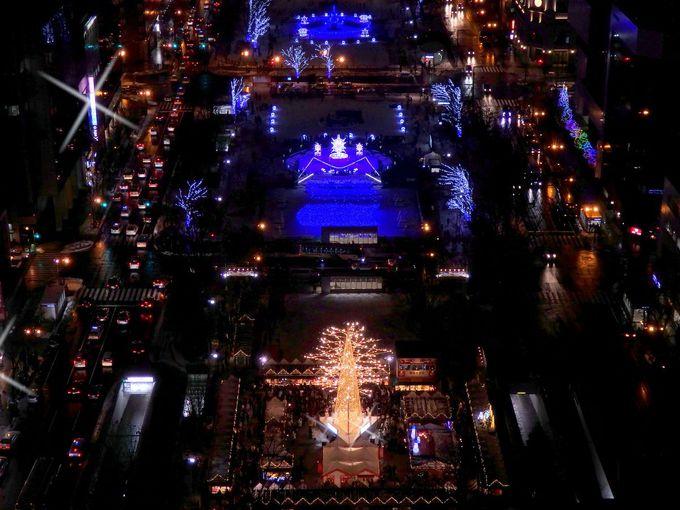 「さっぽろホワイトイルミネーション」と「新日本三大夜景」をまるっと楽しめる展望台