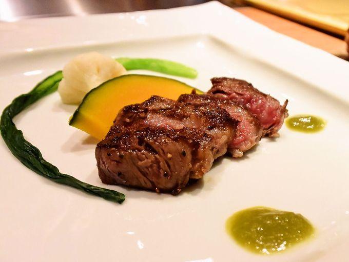 道産和牛や近郊の魚介・野菜を使った贅沢な季節の膳
