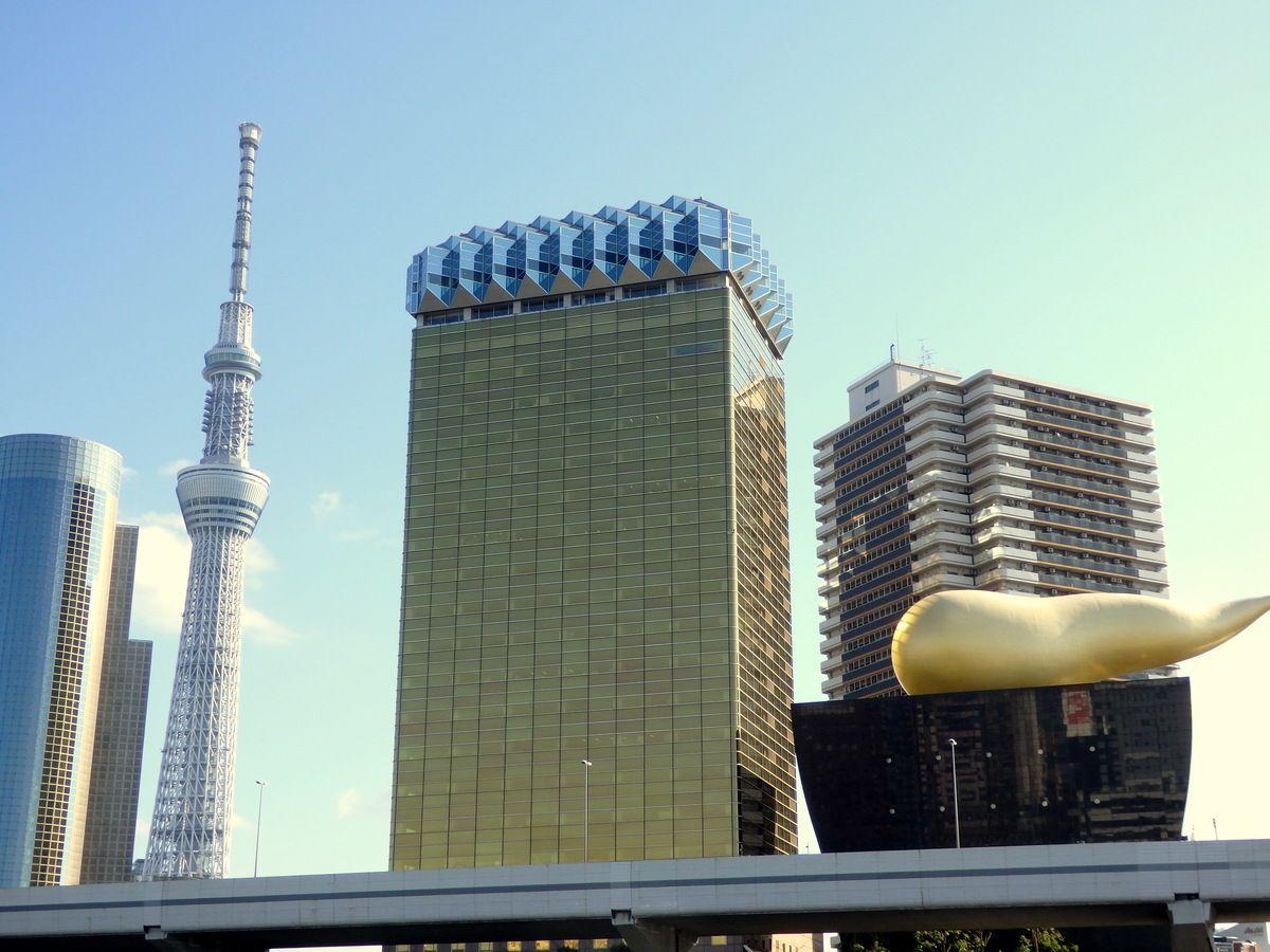 パワスポ写真のチャンスが!浅草・吾妻橋から浜離宮、日の出桟橋を目指す