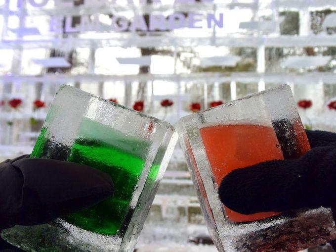 COLDドリンクカクテルは氷のグラスで!