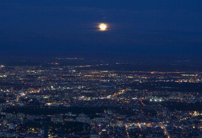 札幌夜景の代表「藻岩山」は「名月」スポットとしても認定!