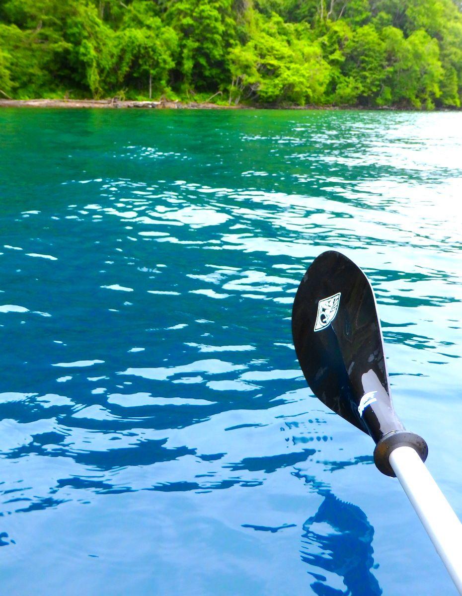 水深5m付近から一気に水深が深くなるポイントはブルーとグリーンの境界線