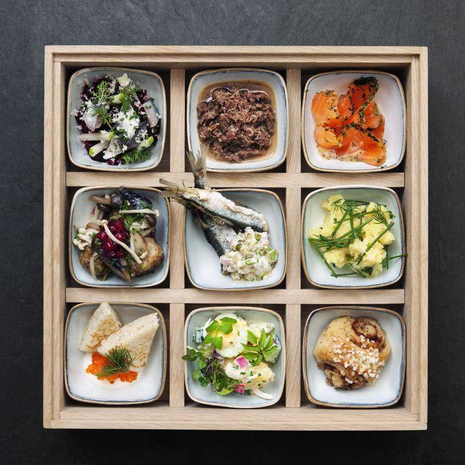 フィンランド料理の「松花堂弁当」にウットリ。日本語メニューも。