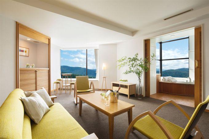 旭川家具の美しいデザインにも注目!広々としたリビングと寝室