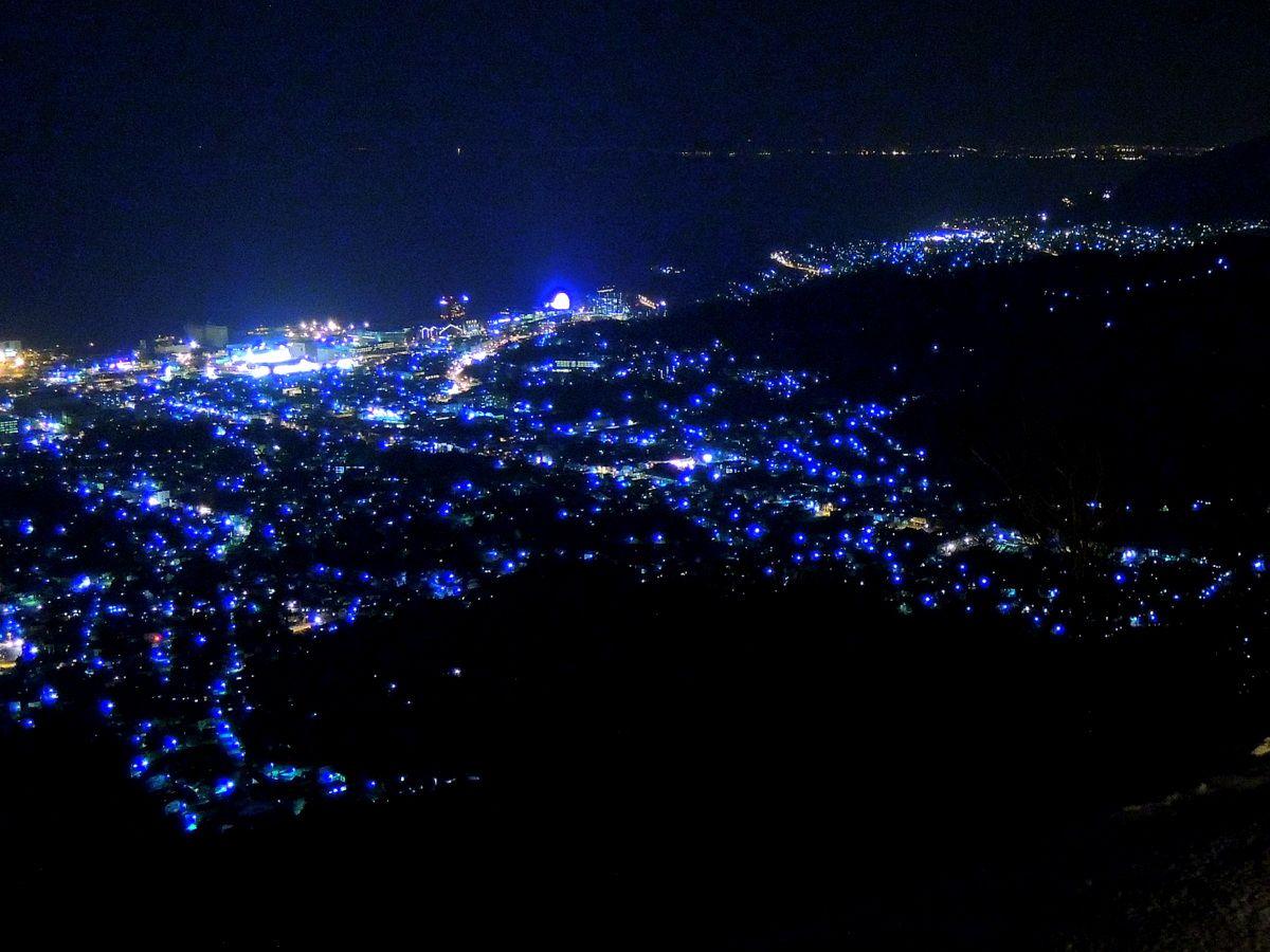 ミシュラン1つ星。小樽天狗山でキラメク街を。
