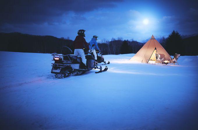 「月光スノーモービルツアー」が初開催!月夜に照らされる雪原を走る