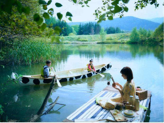 春〜夏にかけての特別なアクティビティ!「モーモーカヌーで行くカヌーピクニック」